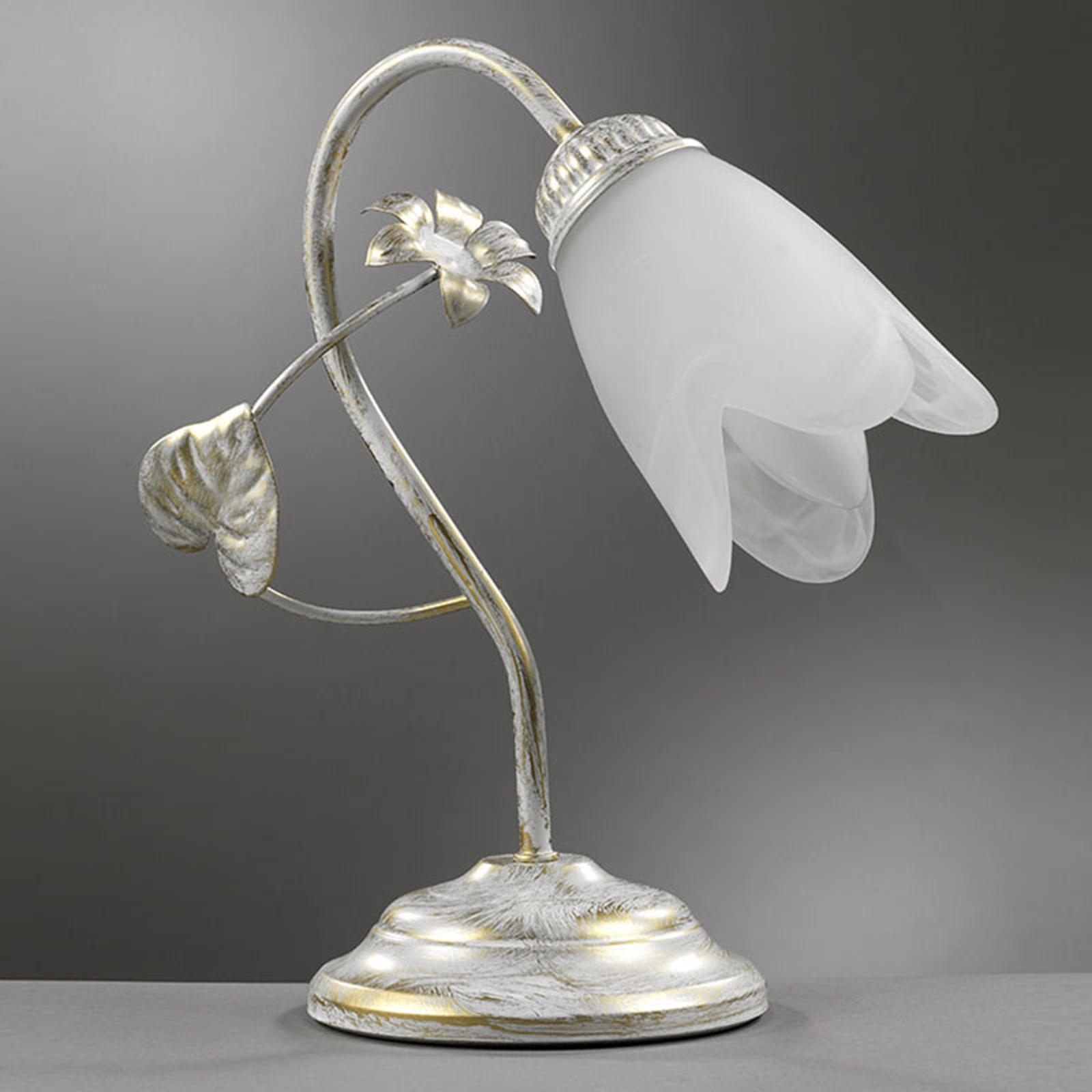 Florencka lampa stołowa Petunia 1-punktowa