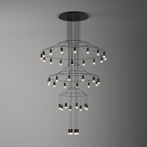 Imponerende LED hængelampe Wireflow