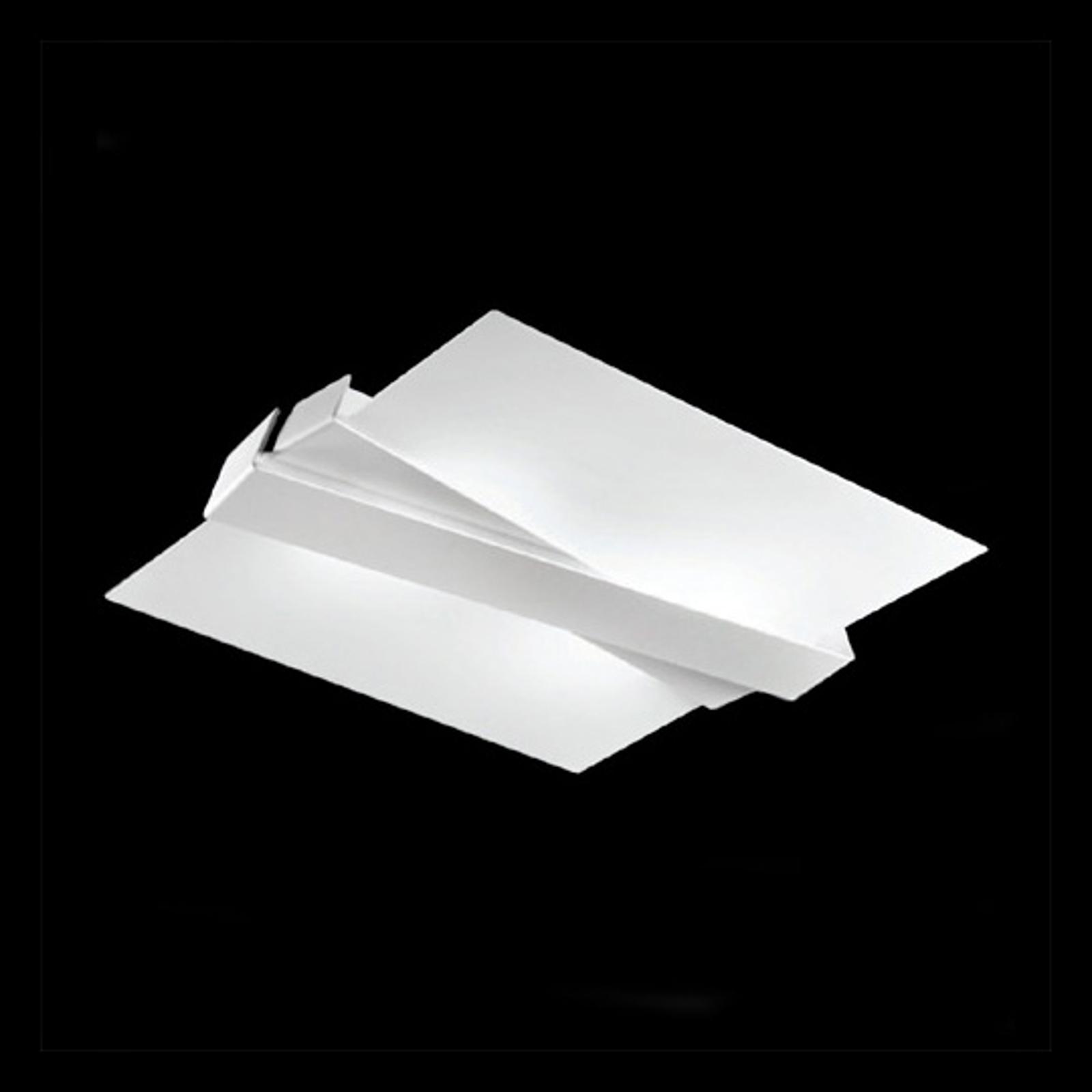 Moderne plafondlamp ZIG ZAG, wit