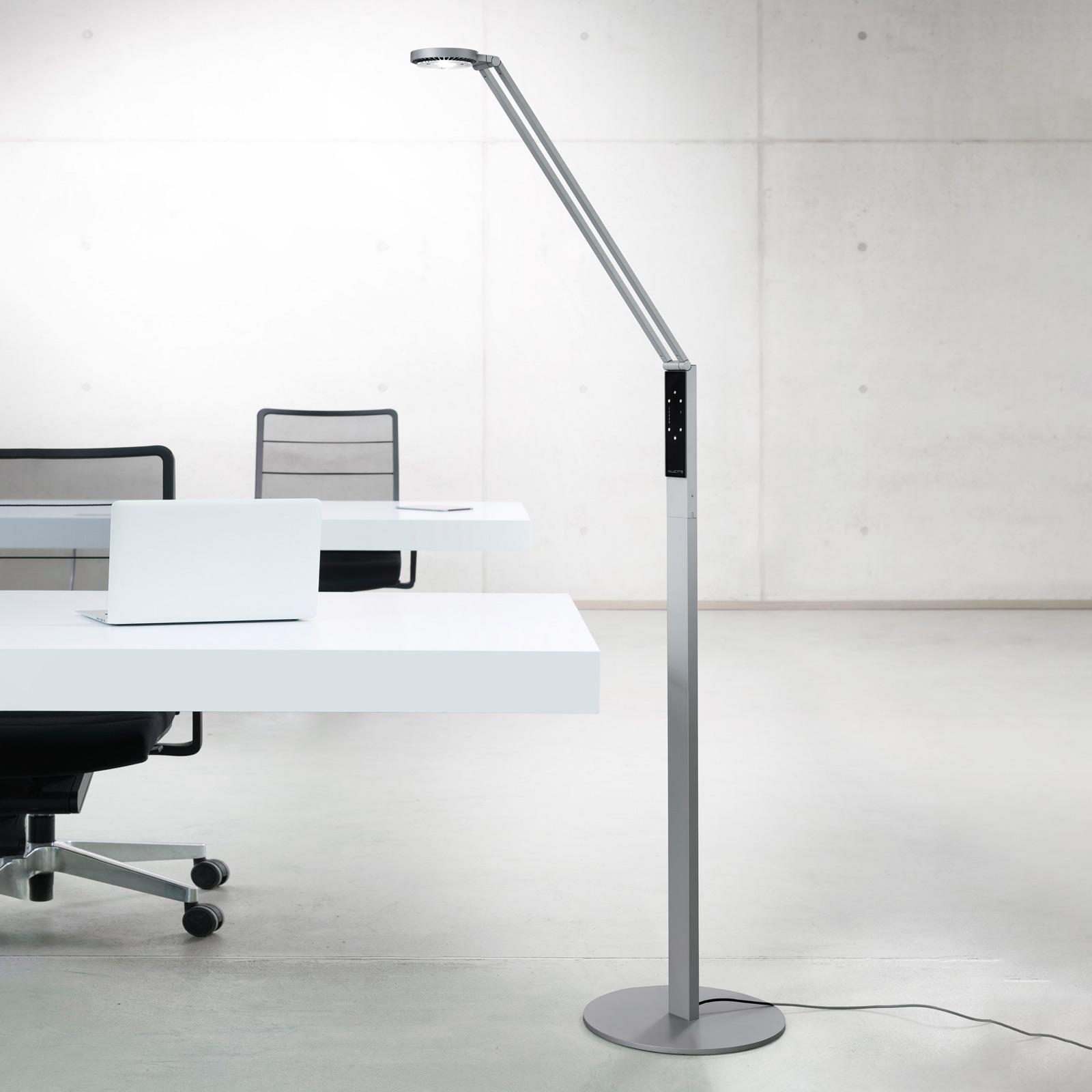 Luctra Floor Radial lampa stojąca LED aluminium