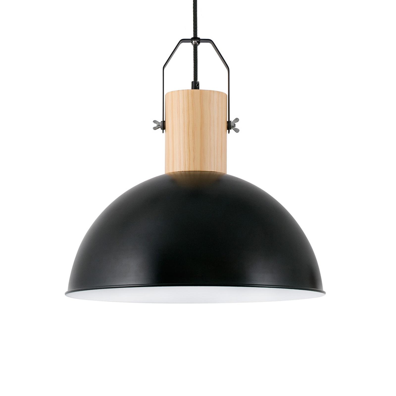 Lampa wisząca Margot z metalu, czarna