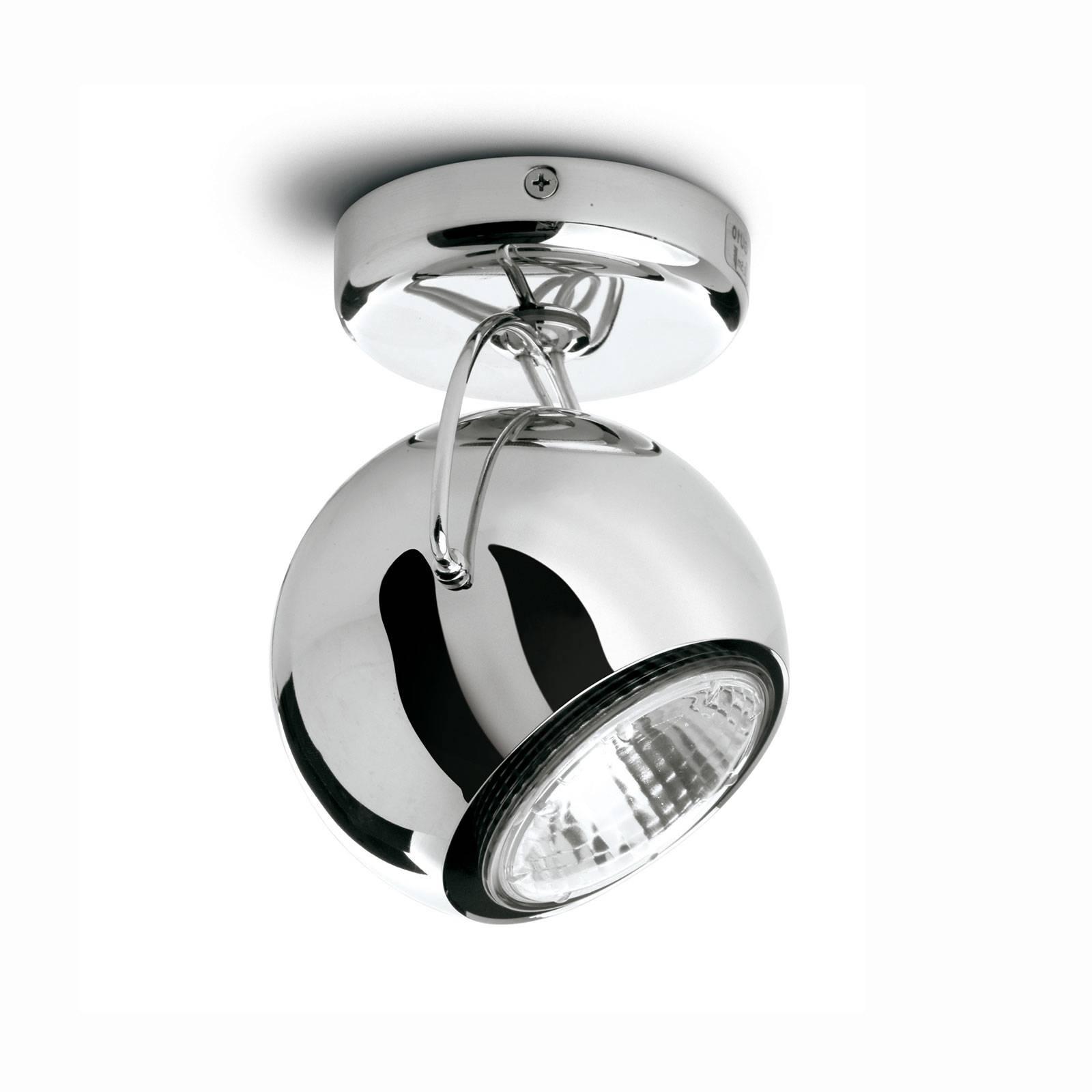 Fabbian Beluga staal plafondlamp direct 1-lamp