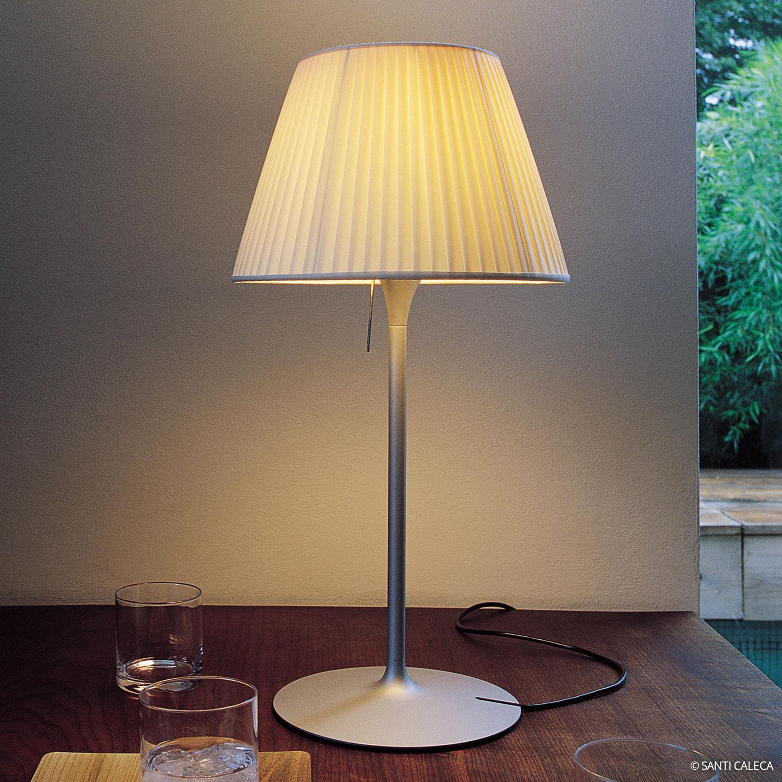 FLOS Romeo Soft T1 stolní lampa s plis. stínidlem