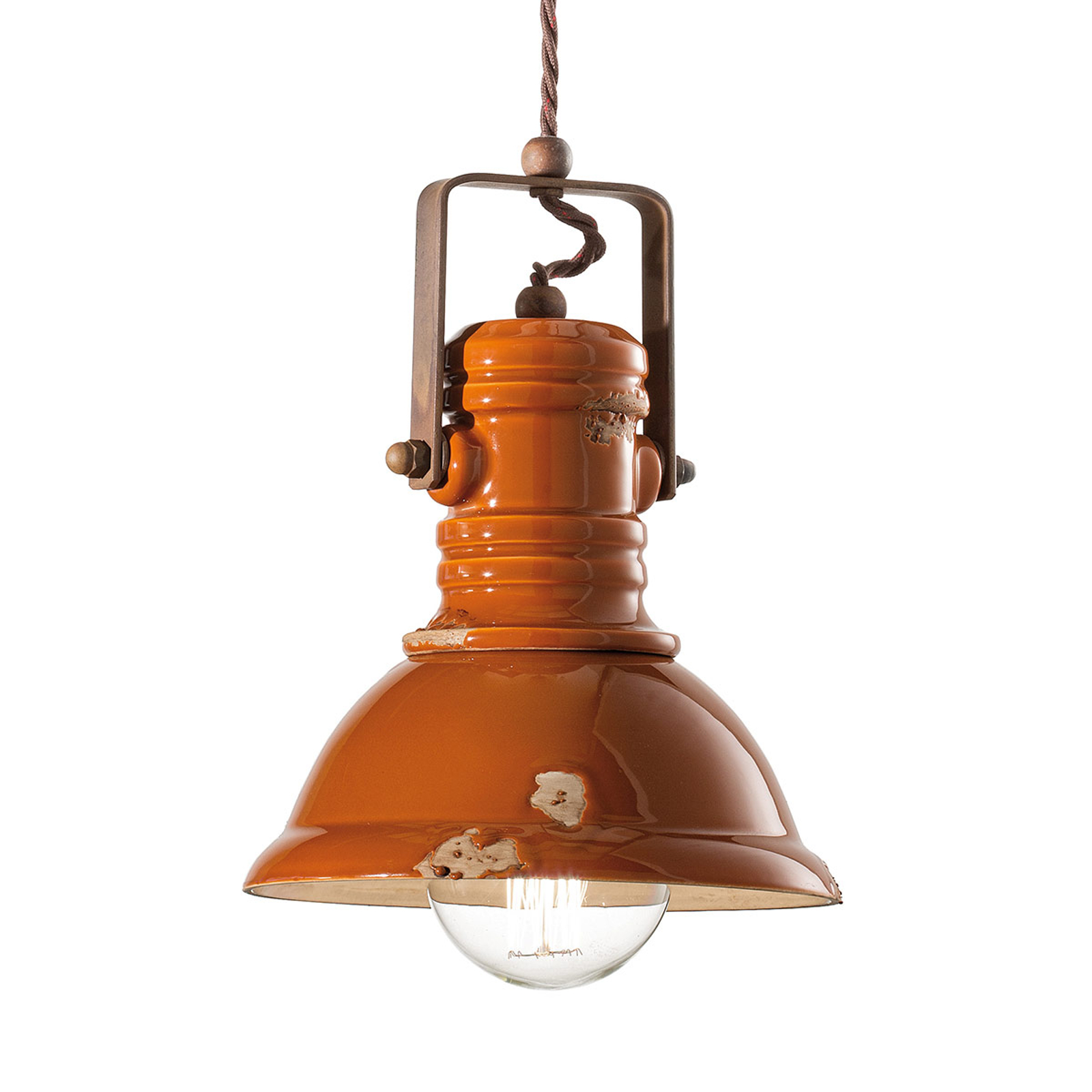 Hanglamp C1691 in industrieel design oranje