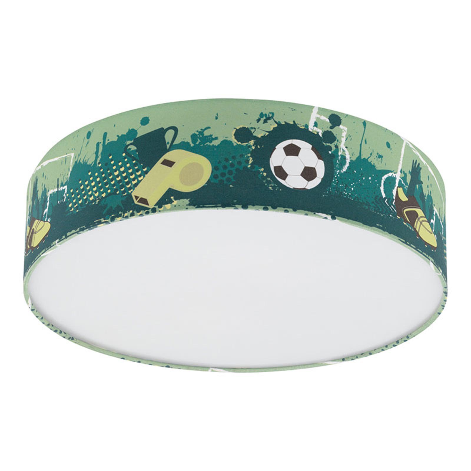 Lampa sufitowa Tabara z motywem piłkarskim tkanina