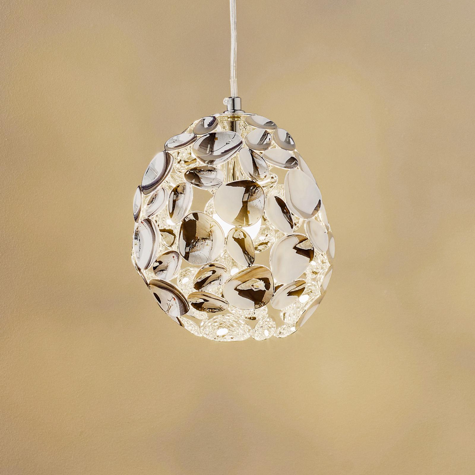 LED-Hängeleuchte Narisa, Ø 18 cm chrom