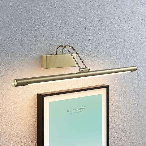 Applique tableau LED Mailine interrupteur, laiton
