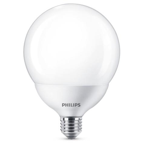 Philips LED globo E27 G120 10,5W 2.700K blanco