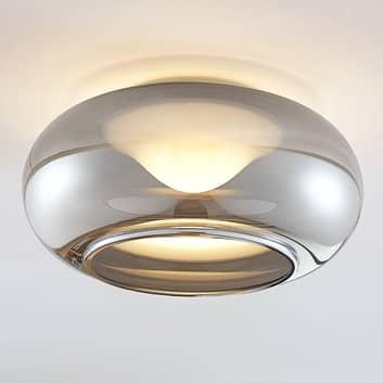 Glas-LED-Deckenlampe Mijo in Rauchgrau