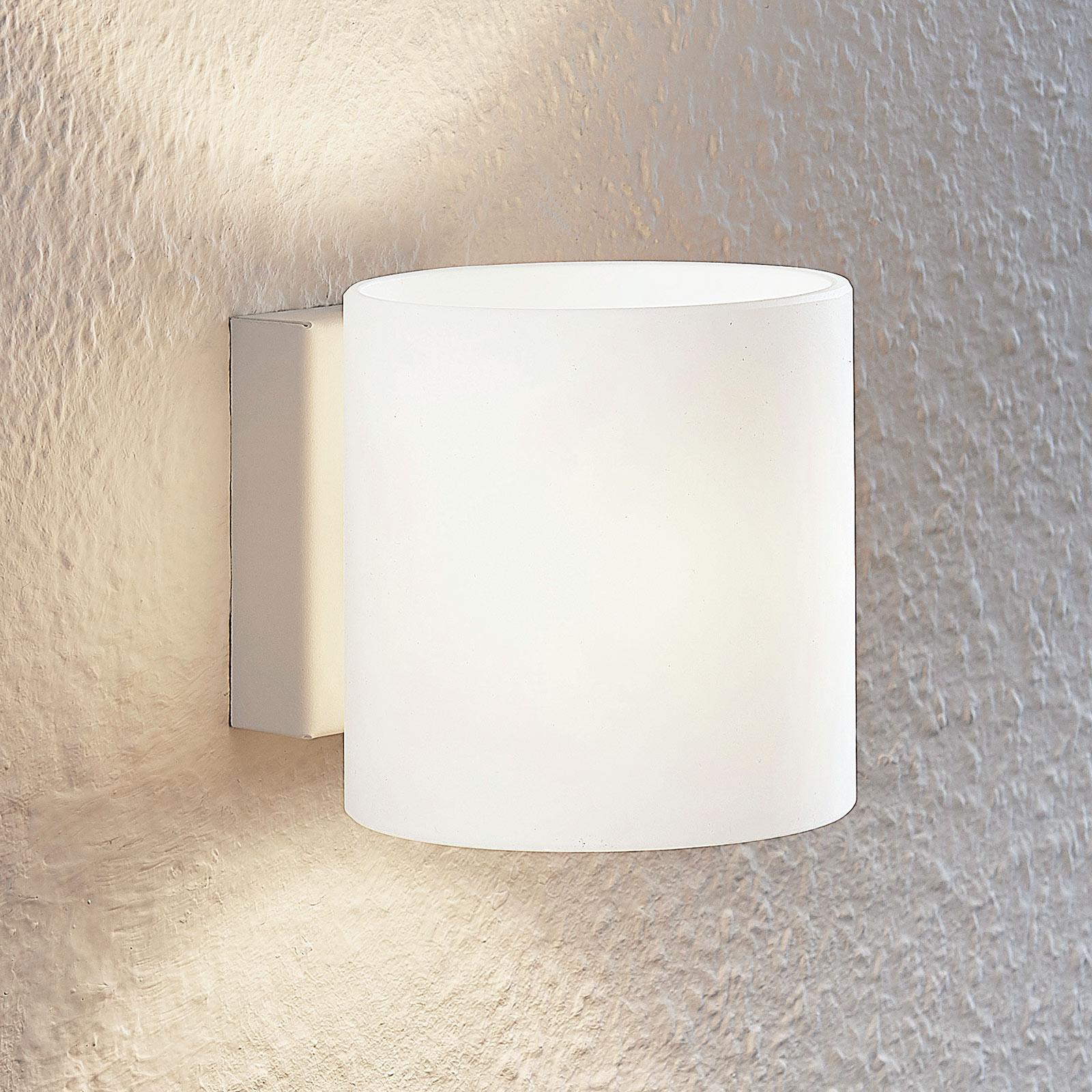 Lindby Nanda szklana lampa ścienna, okrągła