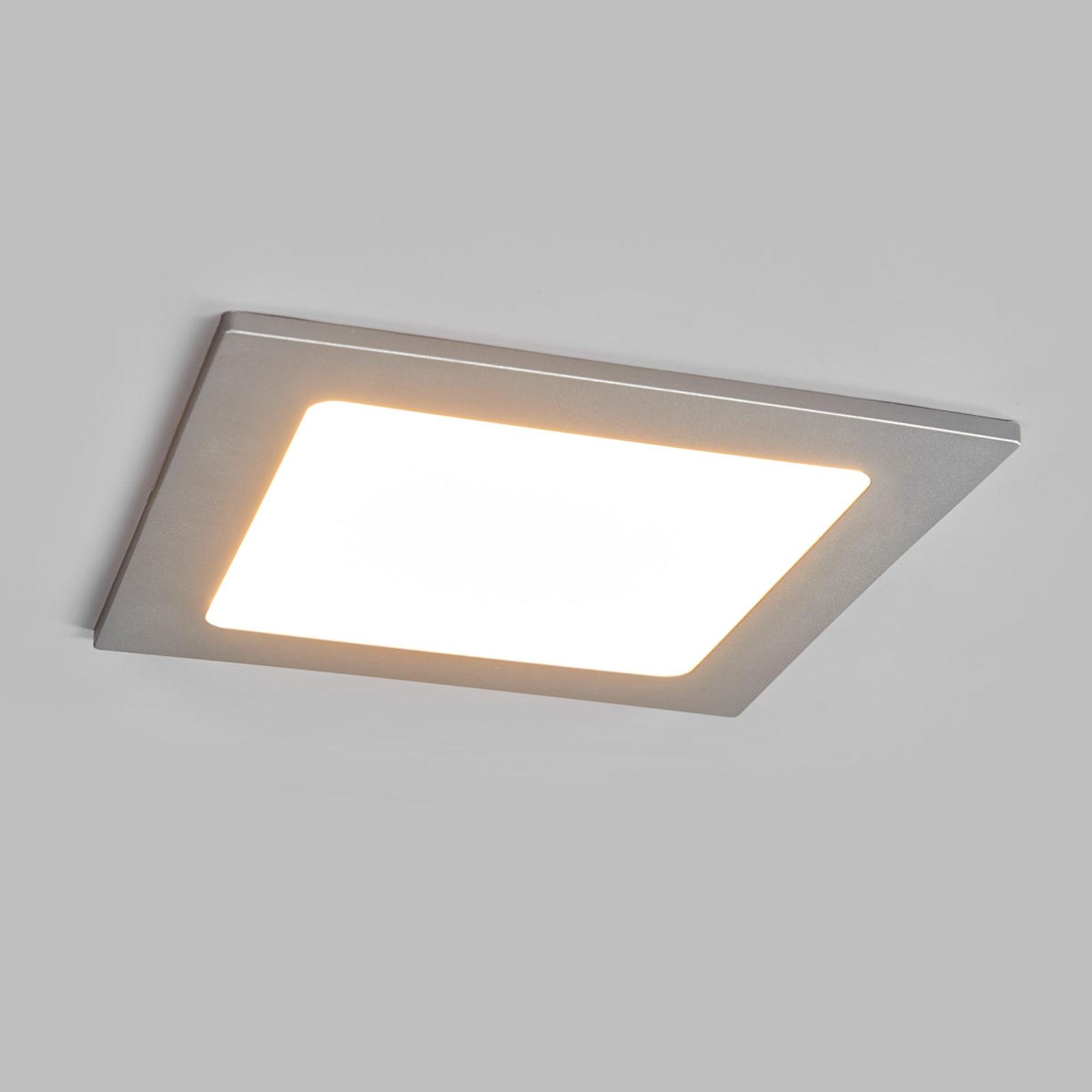 LED-Einbaustrahler Joki silber 3000K eckig 16,5cm