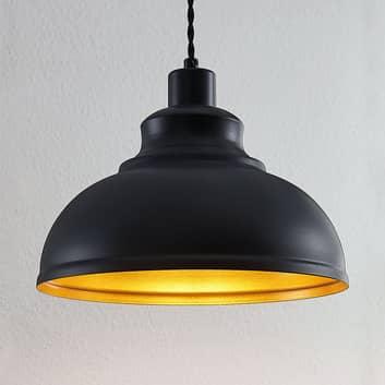 Vintage závěsné světlo Albertine, kov, černé