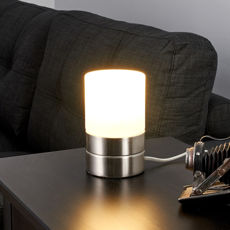 Sevda - LED-Tischleuchte in Zylinderform