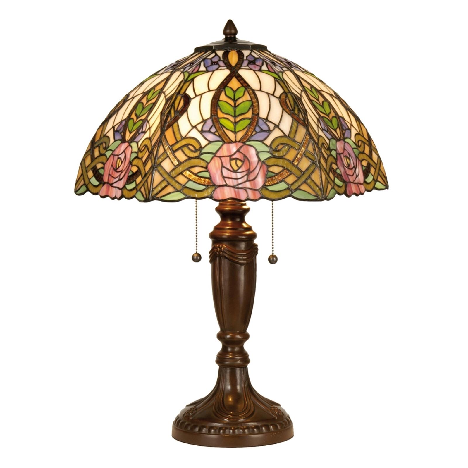 Paradijselijke tafellamp Eden in Tiffany-stijl