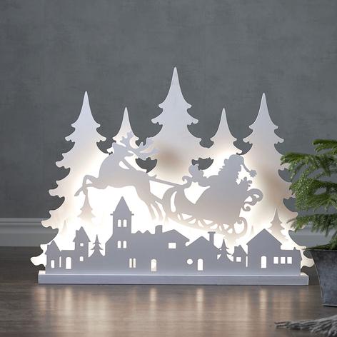 Lampe déco LED Grandi Père Noël, longueur 80cm