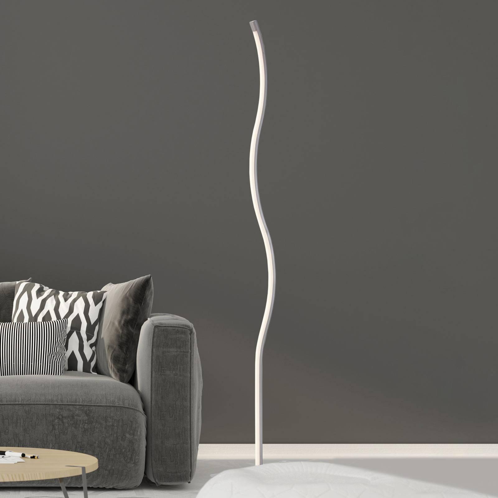 LED vloerlamp 1367-012 binnen golfvorm met dimmer