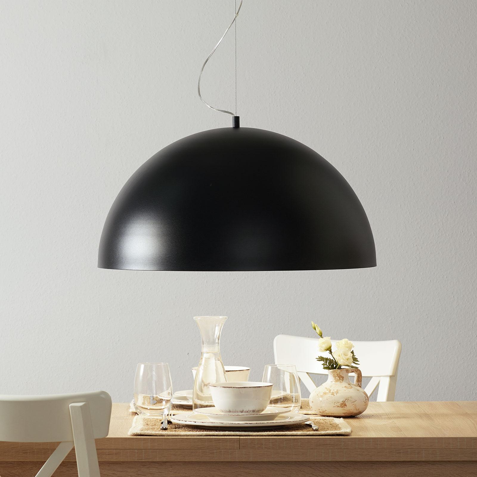 Lucande Maleo lampa wisząca 65cm czarna