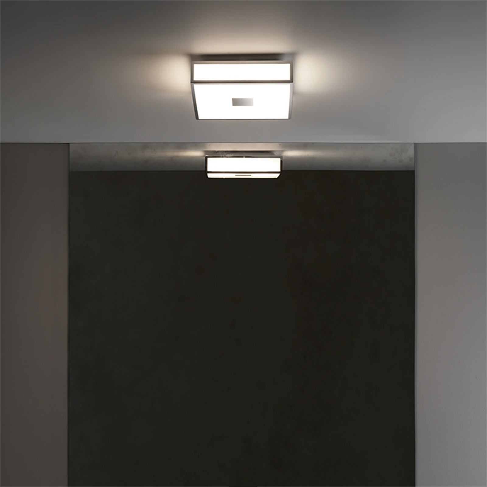 Kantet LED-taklampe Mashiko med IP44