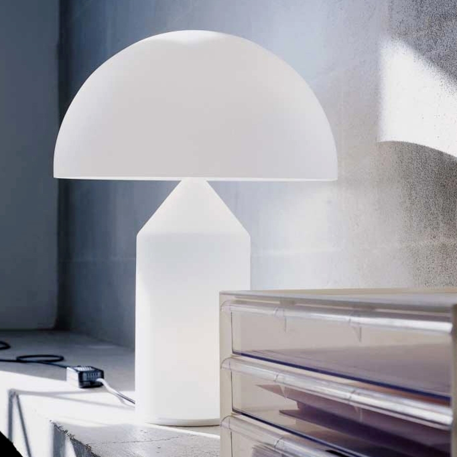 Oluce Atollo - tafellamp van Murano-glas, 70 cm