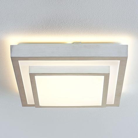 Lindby Mirco LED stropní světlo, hranaté, 37,5 cm