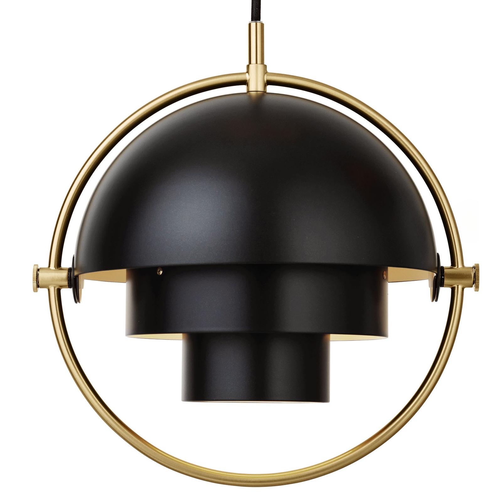 GUBI Multi-Lite hængelampe 25,5 cm, messing/sort
