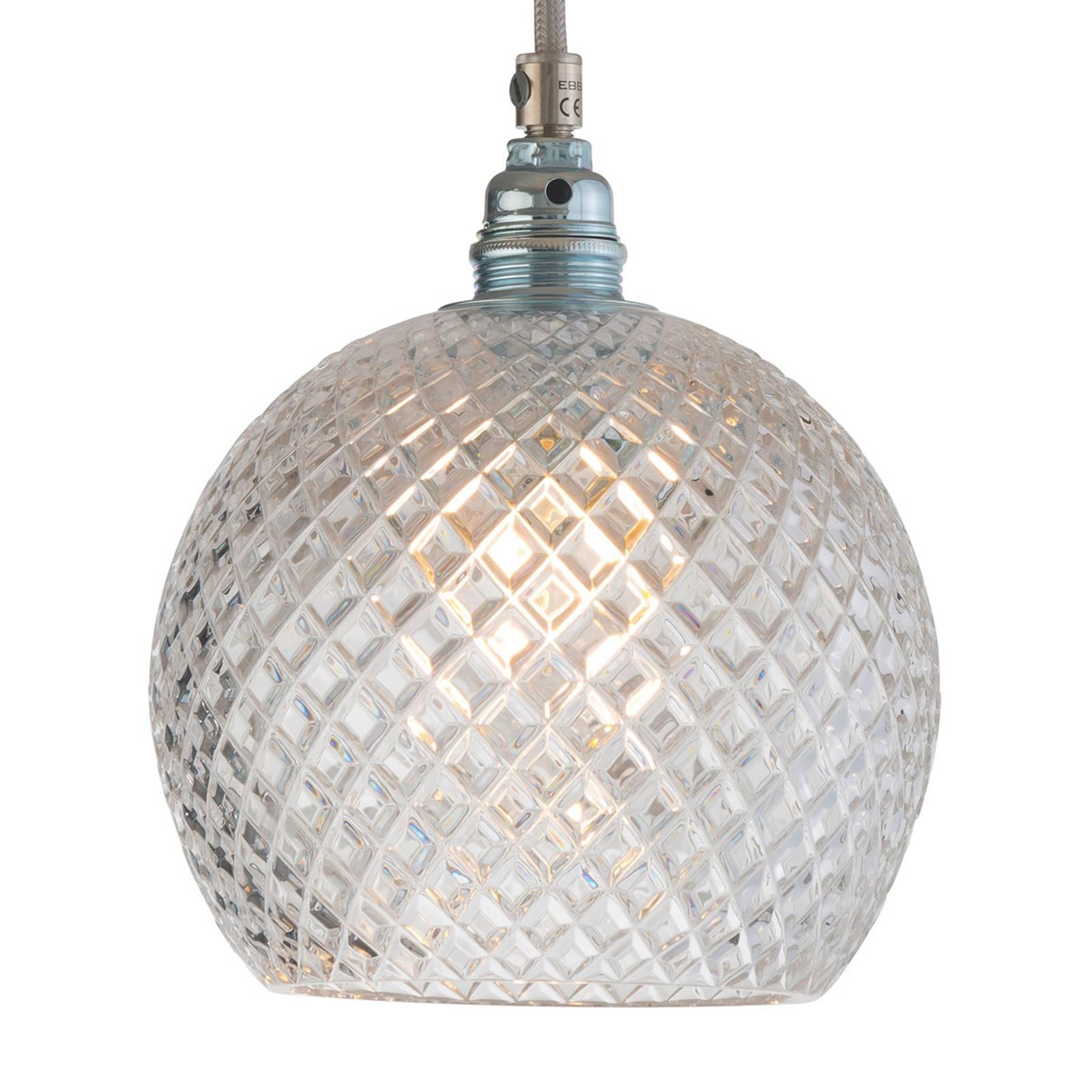 EBB & FLOW Rowan lampa wisząca, srebrna Ø 15,5cm