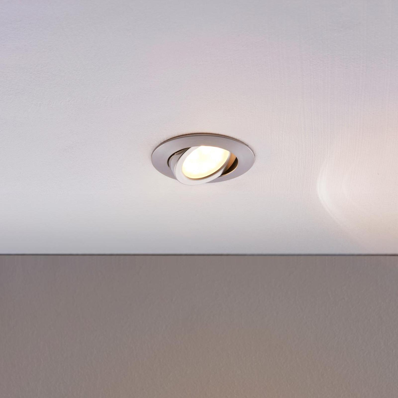 Spot encastré LED Andrej, rond, aluminium
