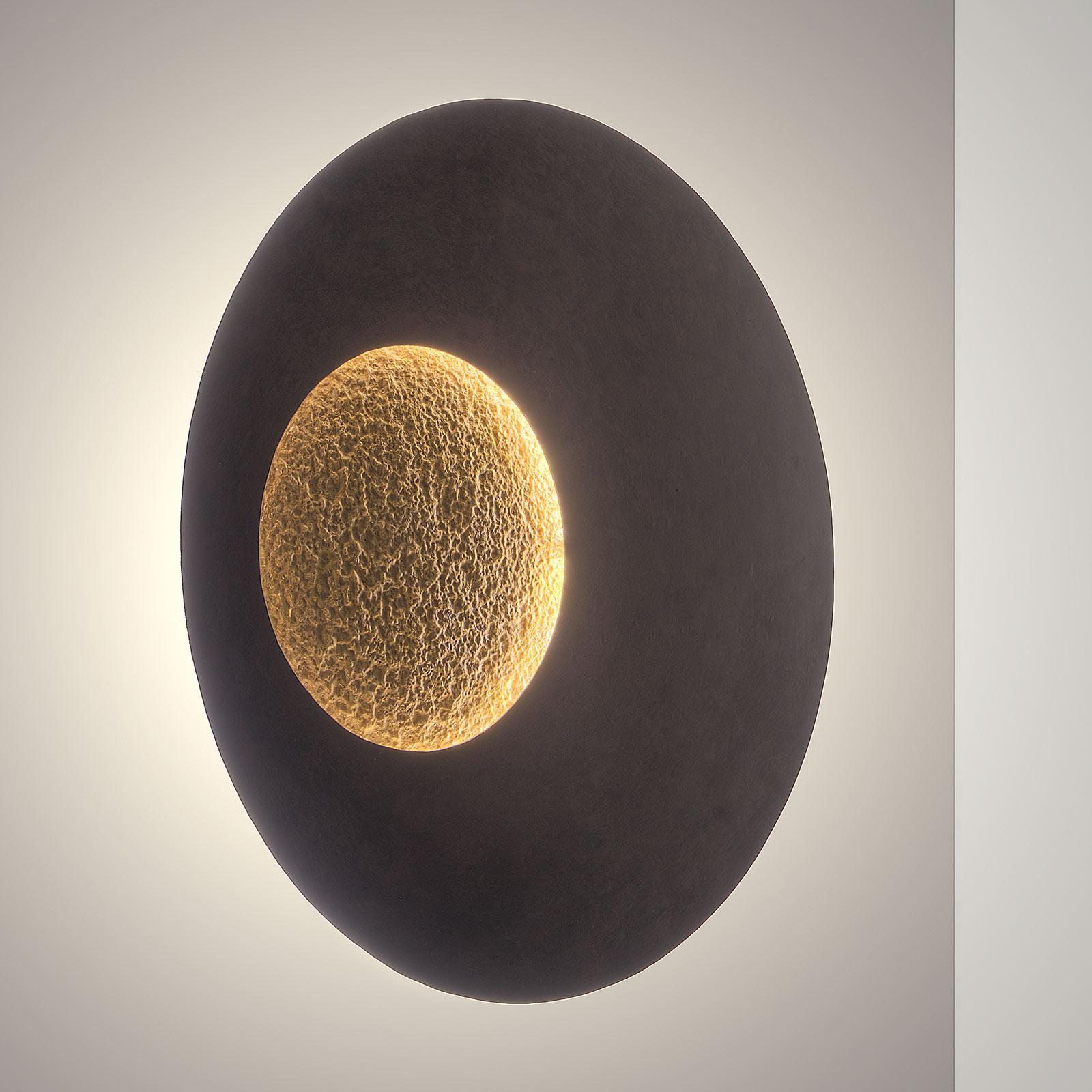 LED-Wandleuchte Luina, Ø 80 cm, innen gold