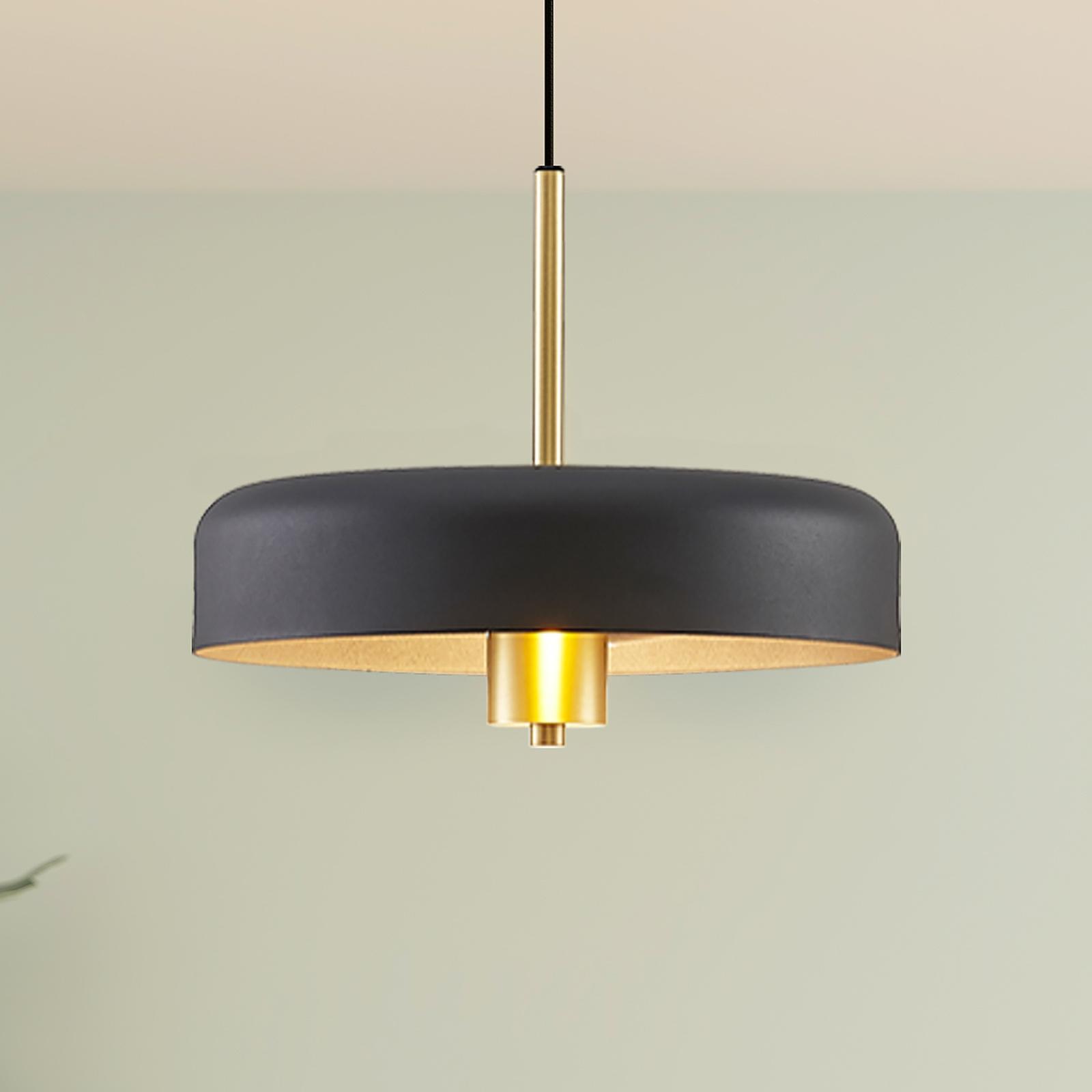 Lucande Filoreta lampa wisząca, 35 cm, czarna