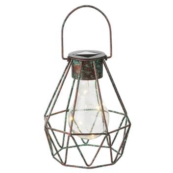 LED deko-solcellelampe Cage, kan stilles og hænges