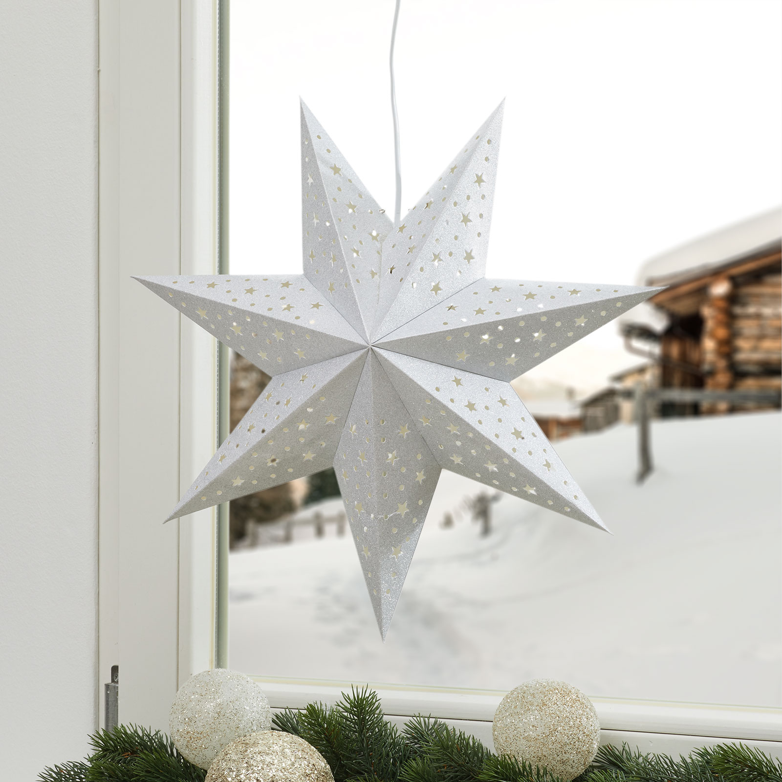 Näyttävä tähti Solvalla 45 cm, hopea