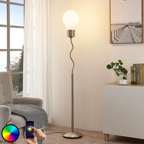 Lindby Smart lámpara de pie LED RGB Mena