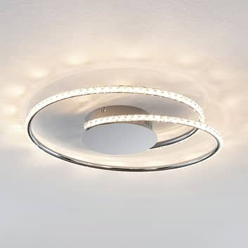 Lindby Joline plafonnier LED, cristal, 45 cm