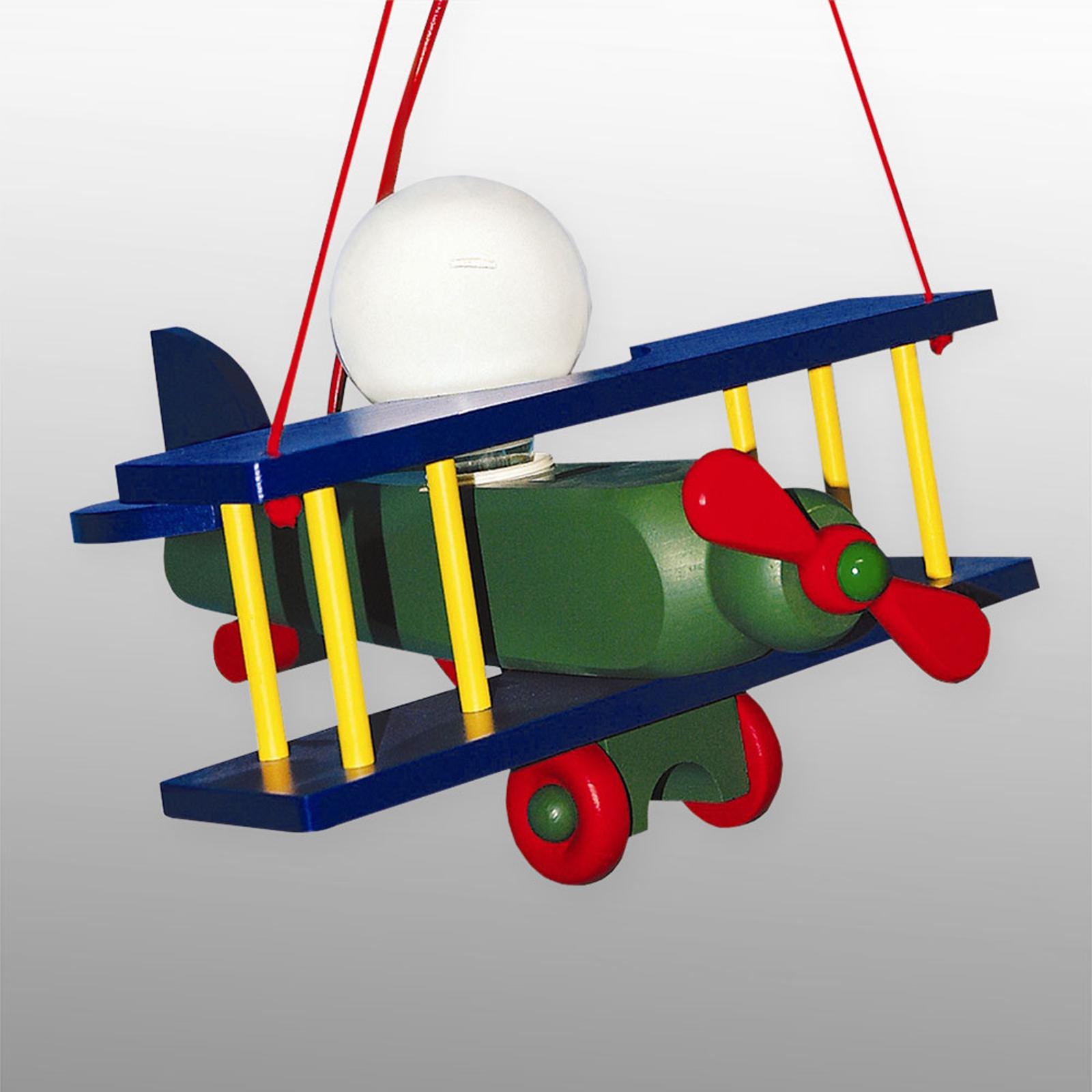 Suspension Avion multicolore