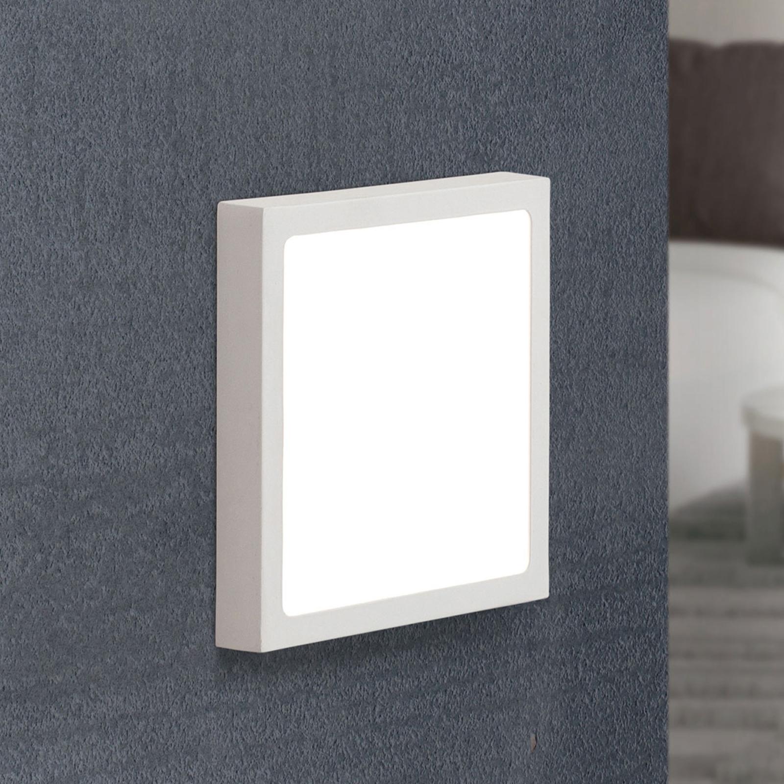 LED-Wandleuchte Vika, Quadrat, weiß, 18x18cm