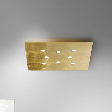 Vlakke plafondlamp Slim met led, 8-lichts