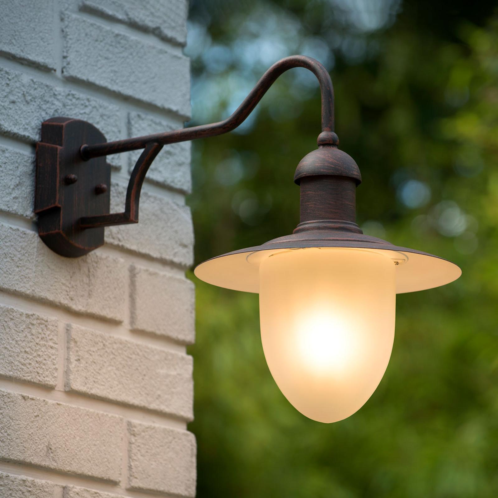 Nostalgiczna zewnętrzna lampa ścienna Cottage