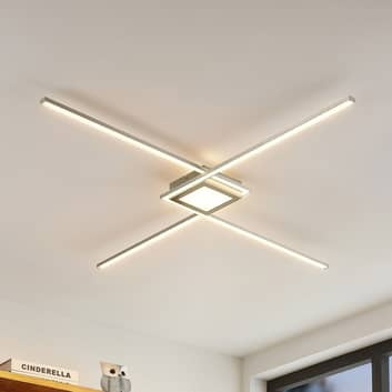Lindby Ridia -LED-kattovalaisin, nikkeli