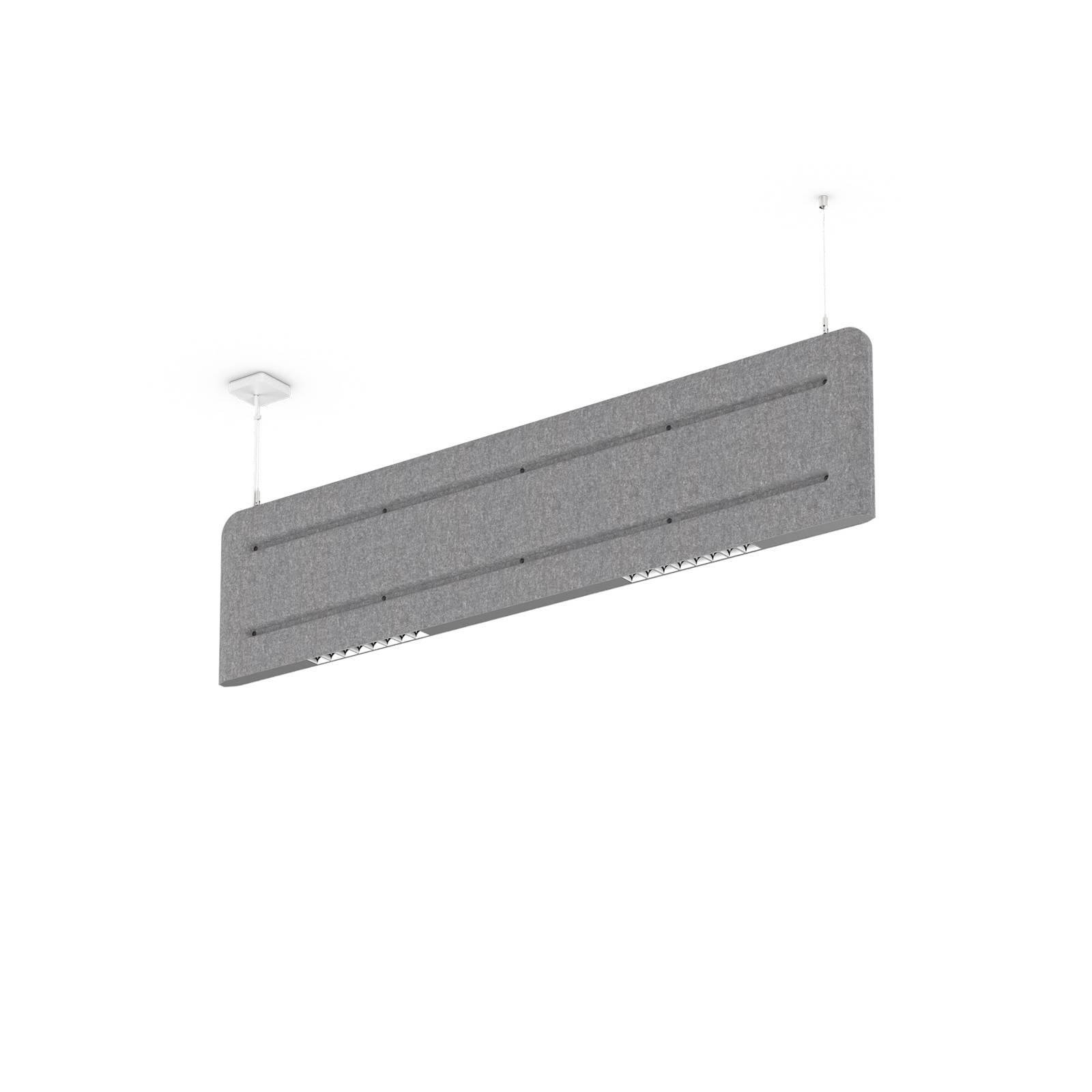 XAL Muse light LED-Hängeleuchte 4.000K, filzgrau