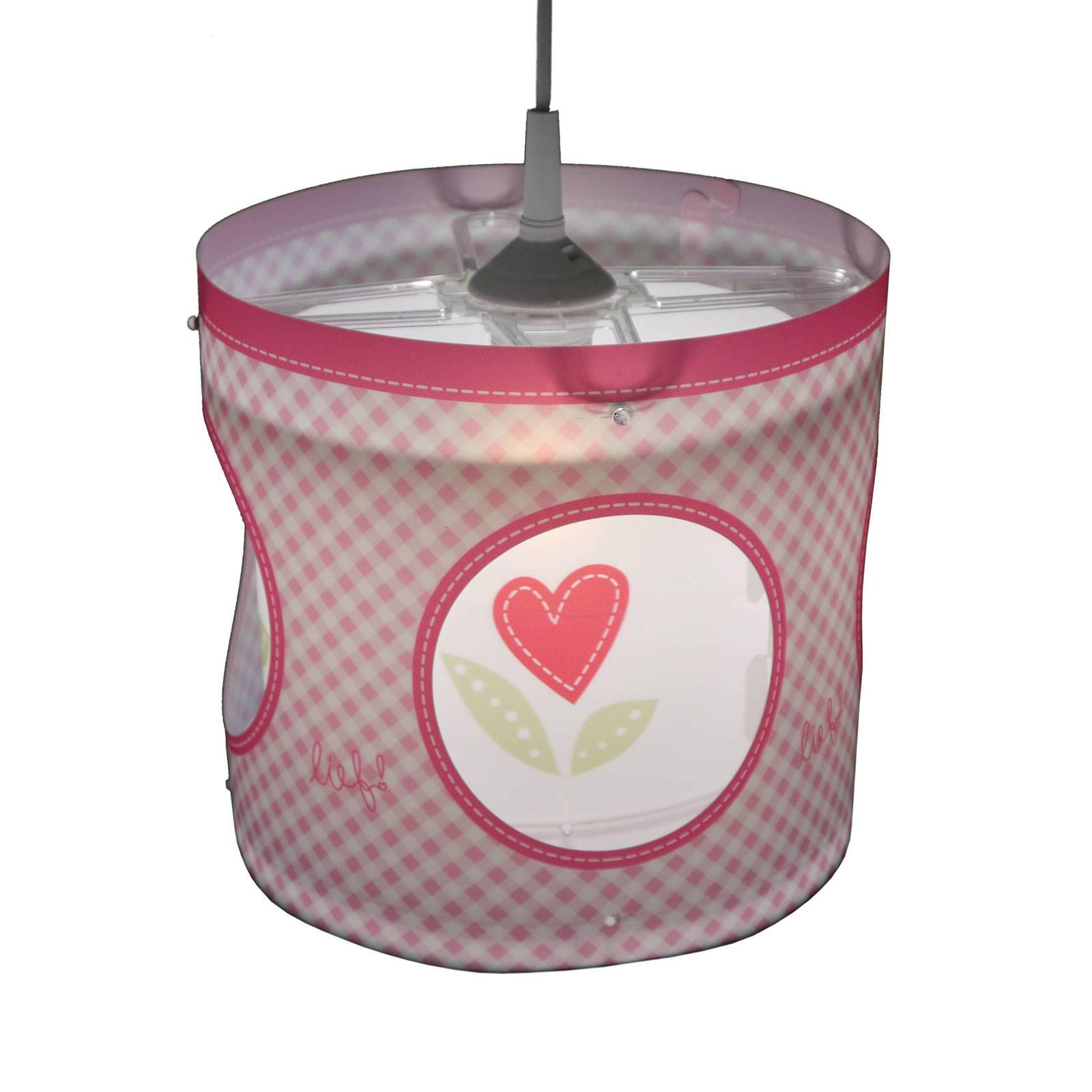 Obrotowa lampa wisząca Lief for Girls różowa