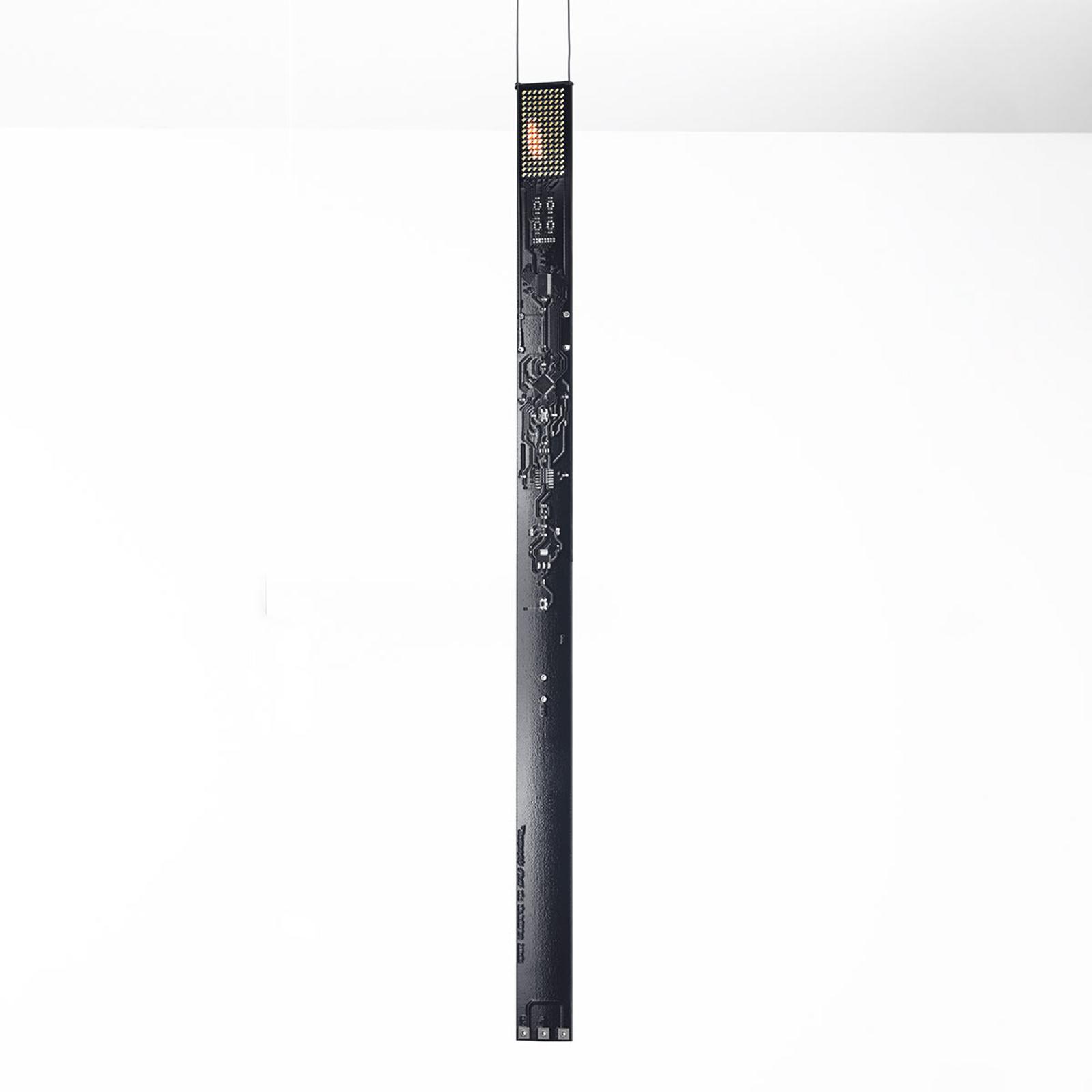 LED-designer-pendellampe One New Flame i svart