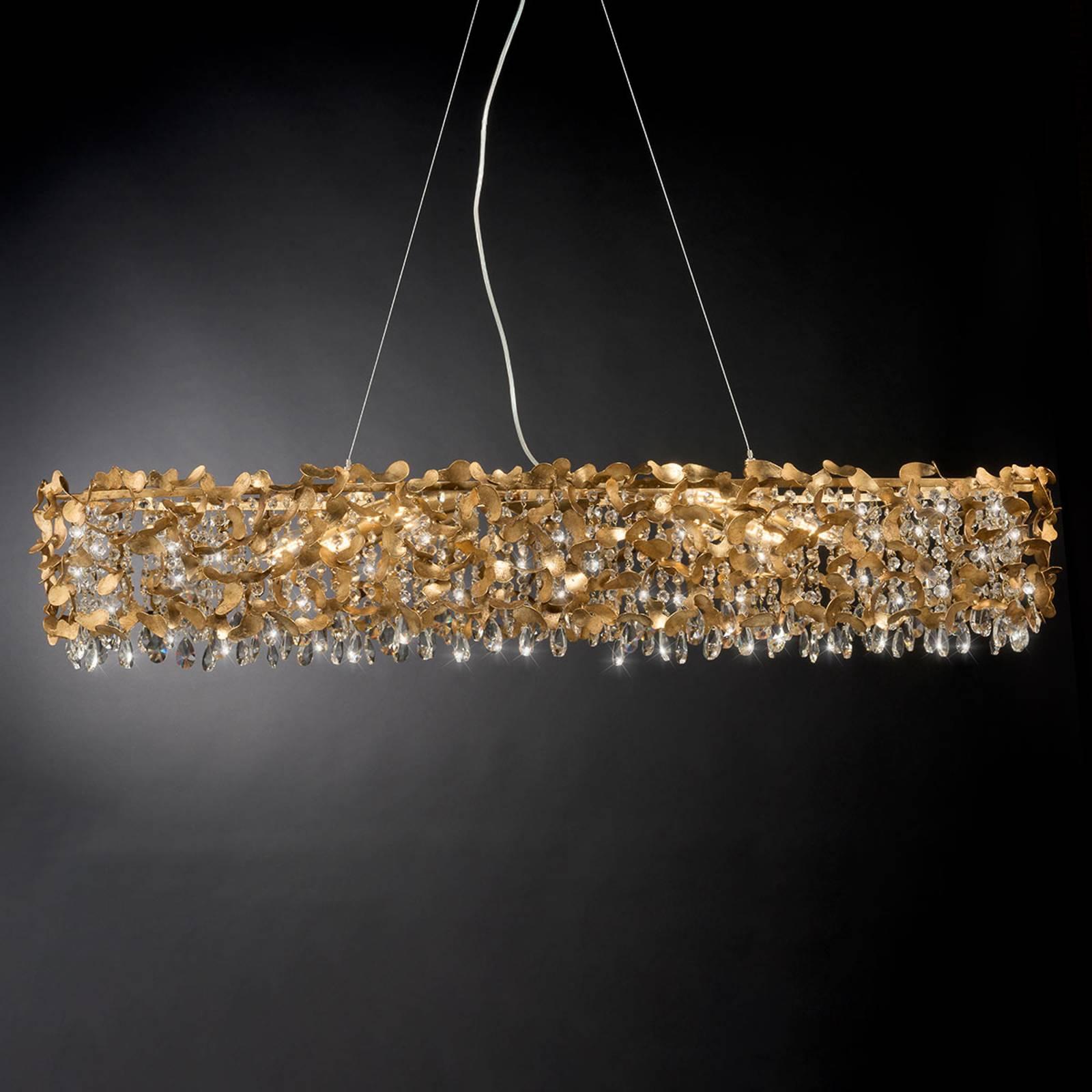 Suspension 1110/10 S avec feuille d'or, 10 lampes