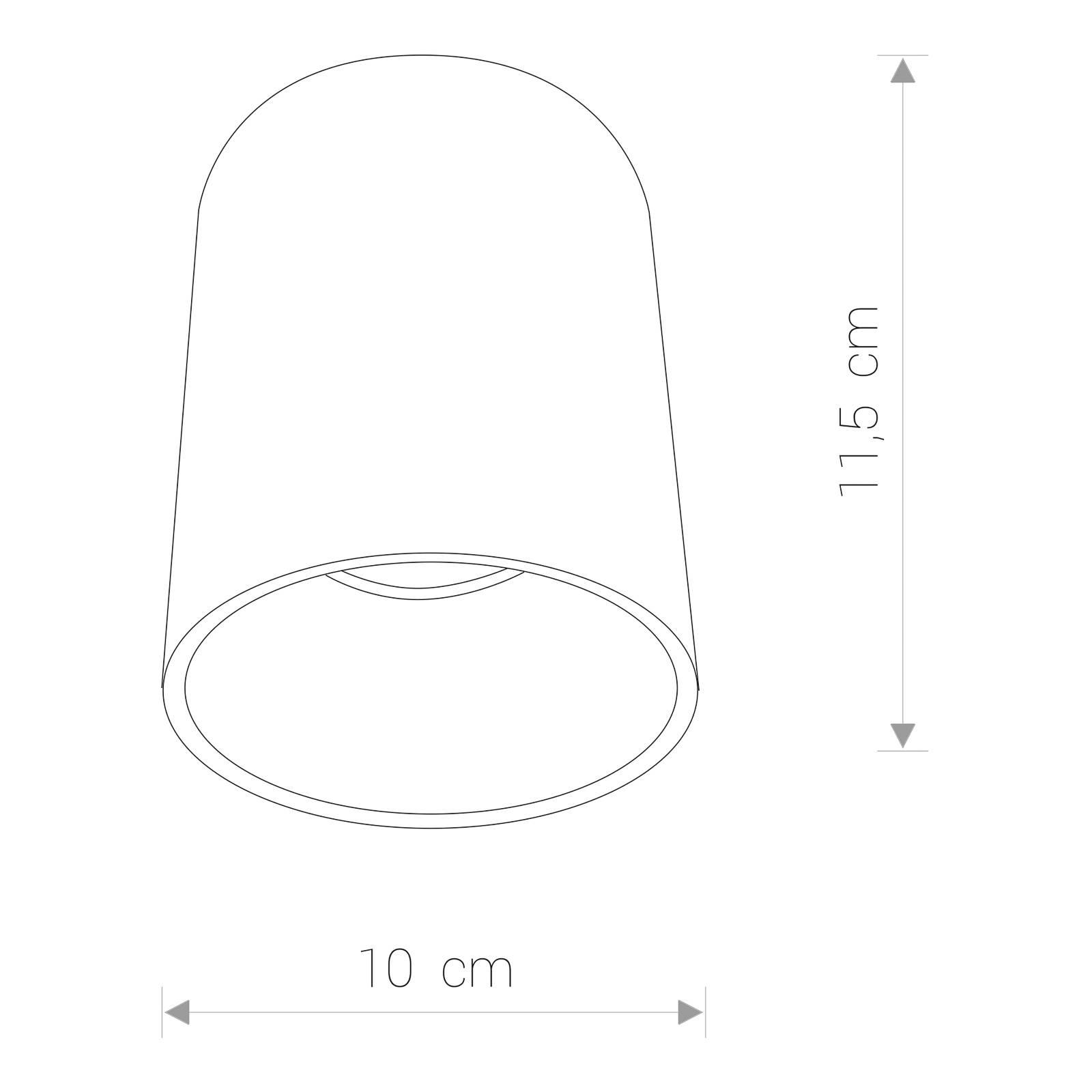 Deckenstrahler Eye Tone in Zylinderform schwarz
