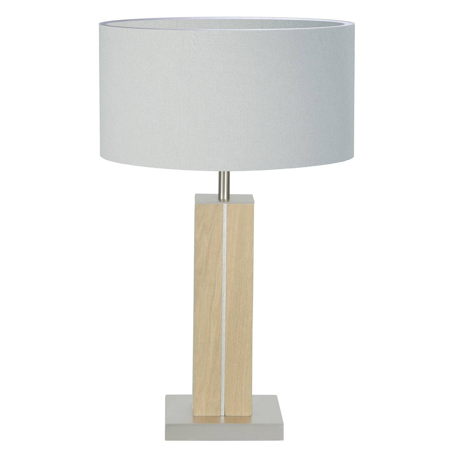 HerzBlut Dana tafellamp, eiken natuur, wit, 56cm