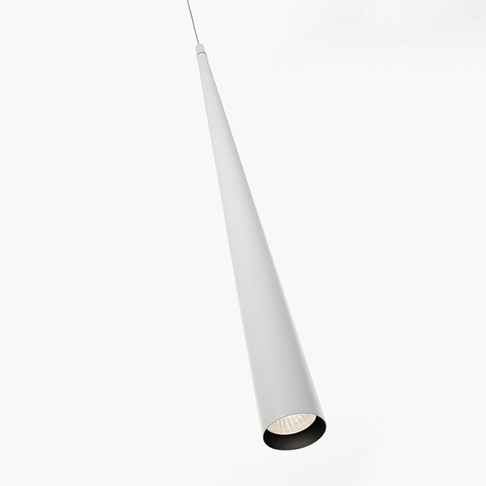 Schmale LED-Pendelleuchte Micro S50, weiß