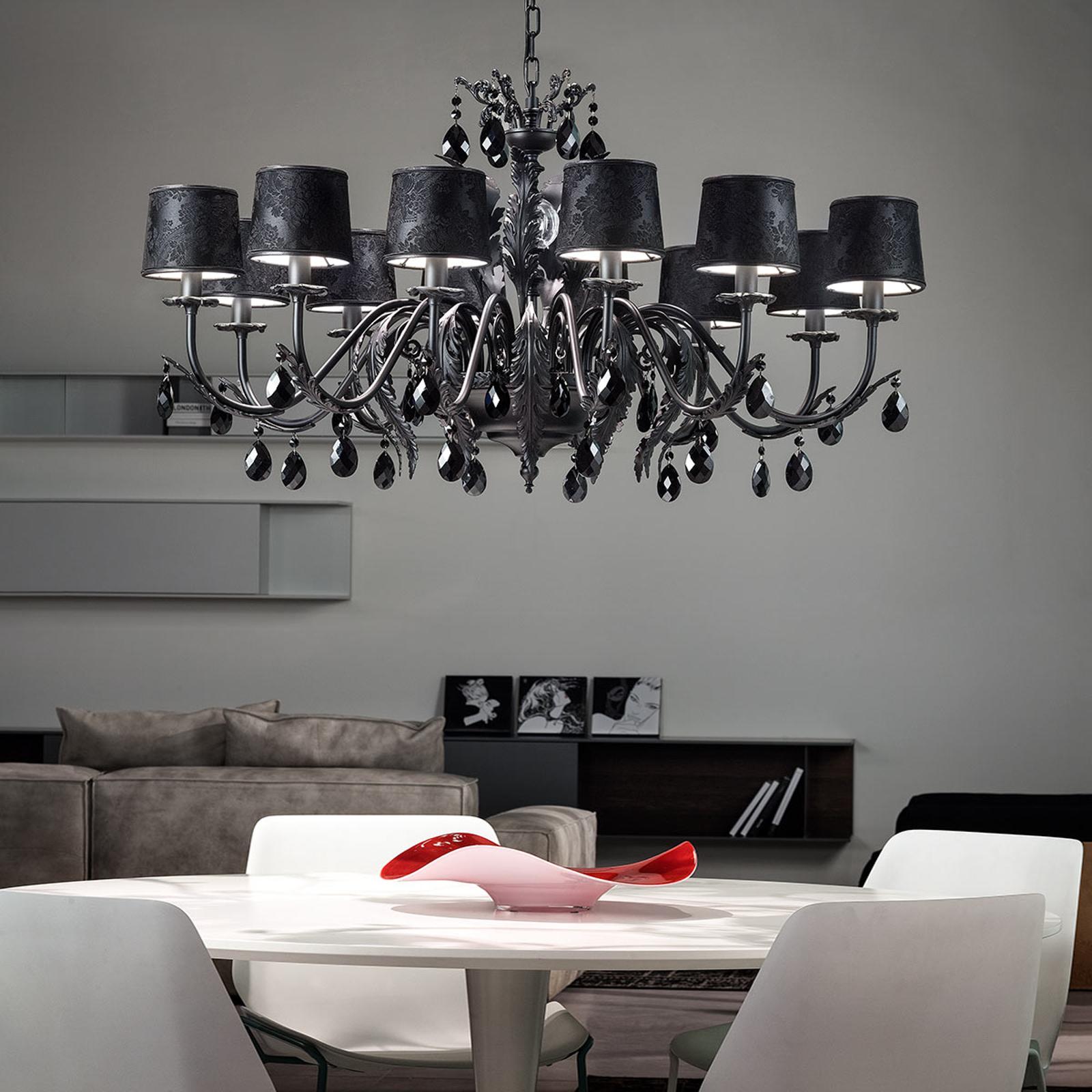 Lustre Angelis noir à 12 lampes