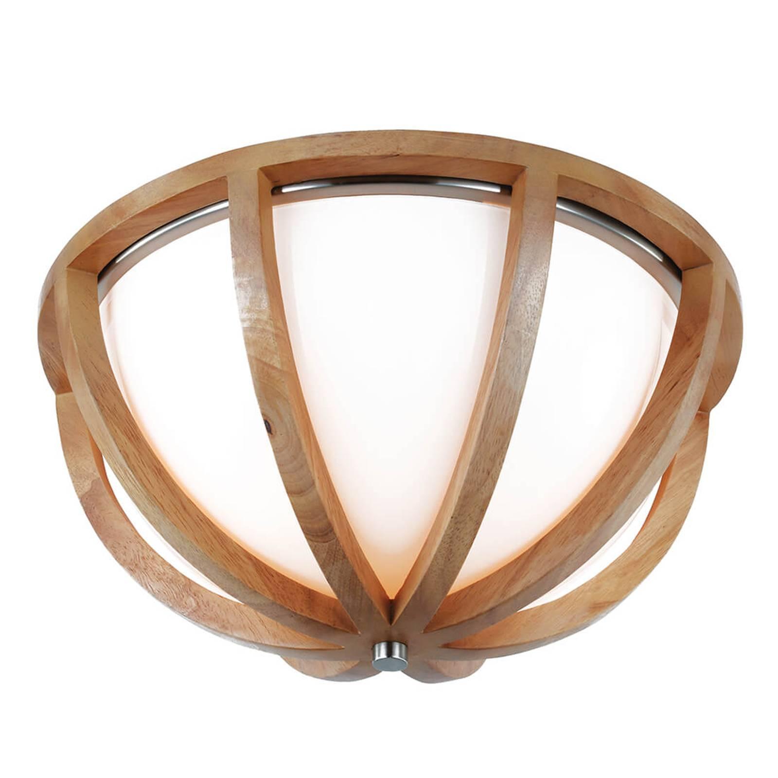 Harmonisch vormgegeven hout-plafondlamp Allier