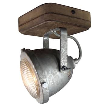 Taklampa Woody, galvaniserad, 1 lampor