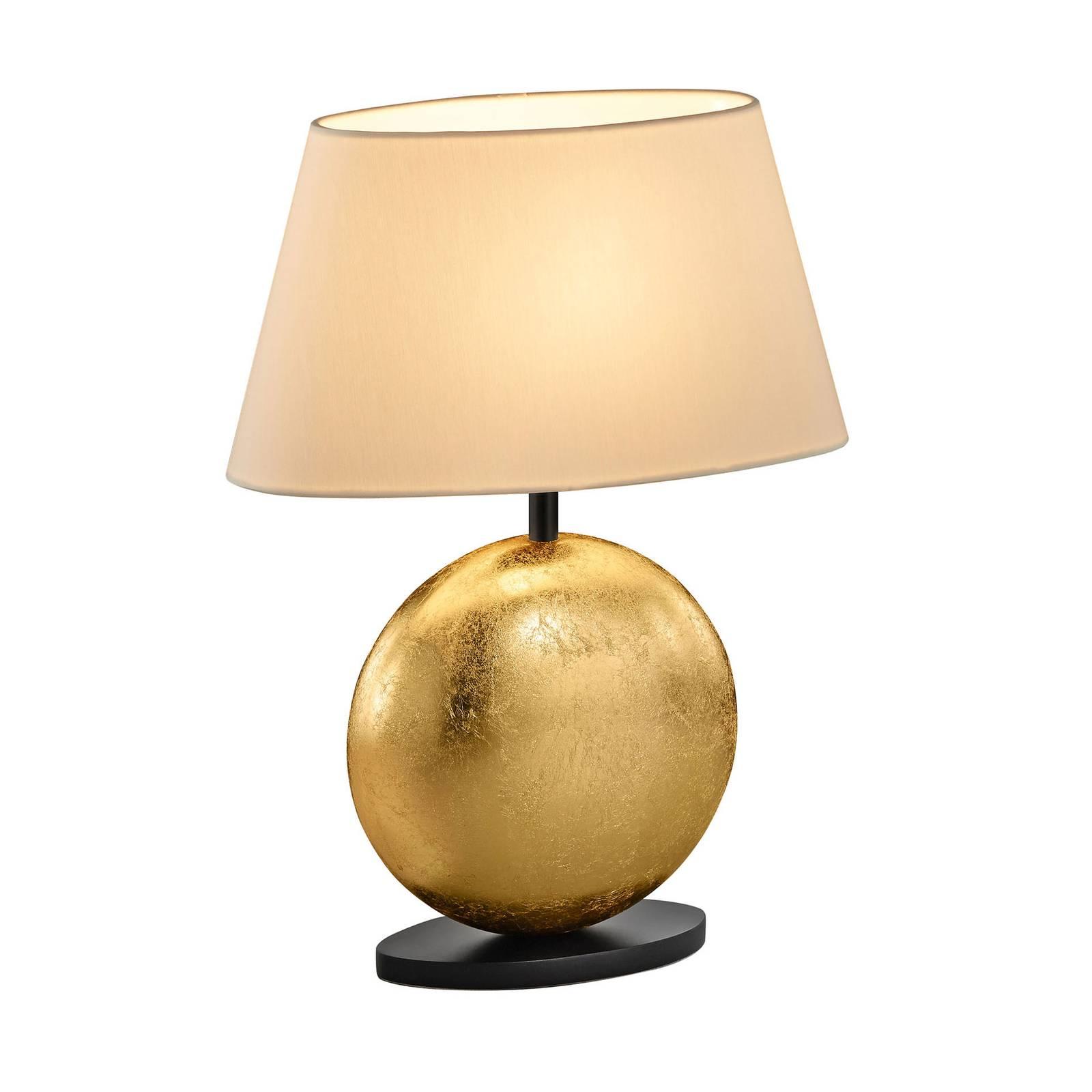BANKAMP Mali lampe à poser, crème/doré, 41cm