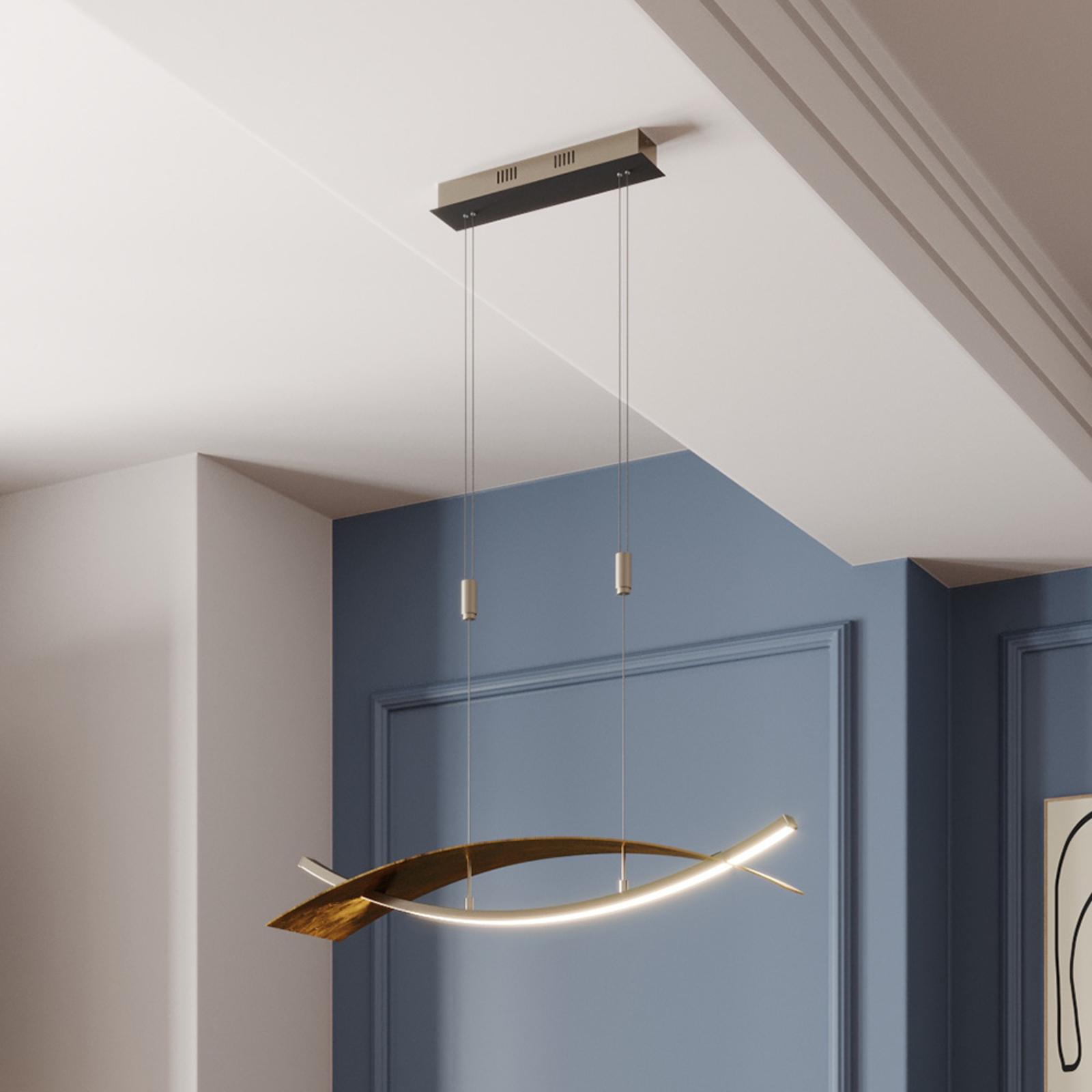 Suspension LED Marija, cache horizontal noir